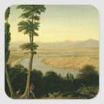 A View of the Tiber and the Roman Campagna Square Sticker