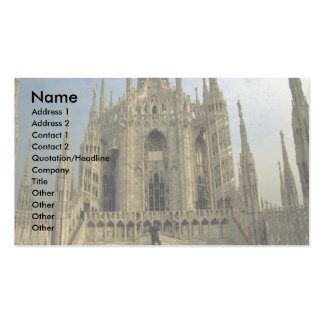A view of the top of the Duomo, (cathedral) Milan Double-Sided Standard Business Cards (Pack Of 100)