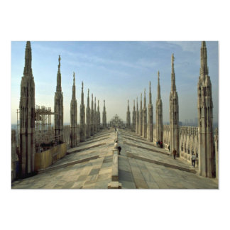 A view of the top of the Duomo, (cathedral) Milan 5x7 Paper Invitation Card