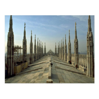 A view of the top of the Duomo, (cathedral) Milan Postcard