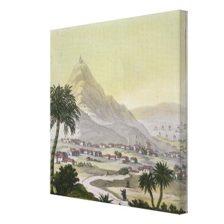 A view of the township of Lima, Peru, from 'Le Cos Canvas Print