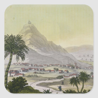 A view of the township of Lima, Peru, from 'Le Cos Square Sticker