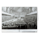A View of The Trial of Warren Hastings Greeting Cards