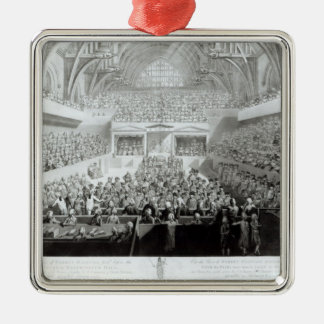 A View of The Trial of Warren Hastings Metal Ornament