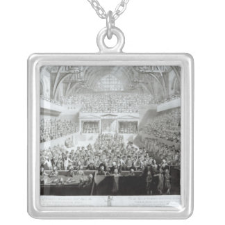A View of The Trial of Warren Hastings Silver Plated Necklace