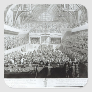 A View of The Trial of Warren Hastings Square Sticker