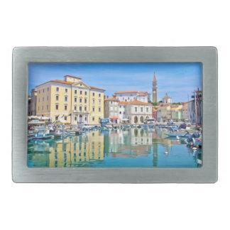 A view of the Venetian port city of Piran Belt Buckle