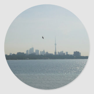 A view of Toronto Classic Round Sticker