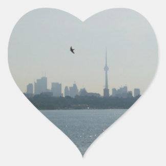 A view of Toronto Heart Sticker