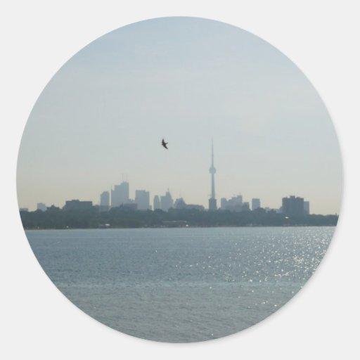 A view of Toronto Round Stickers