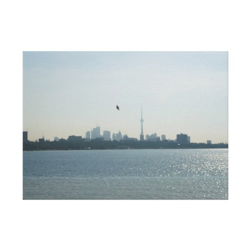 A view of Toronto Wrapped Canvas Canvas Prints