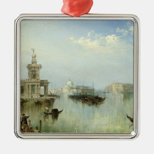 A View of Venice Metal Ornament