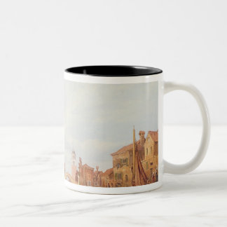 A View of Verona, 1848 (oil on canvas) Two-Tone Coffee Mug