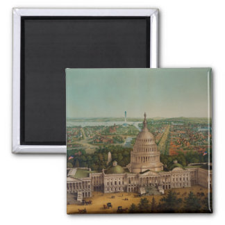 A View Of Washington DC 2 Inch Square Magnet