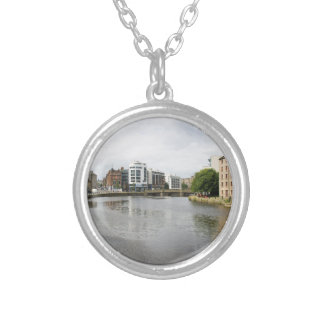 A View of Water of Leith Round Pendant Necklace