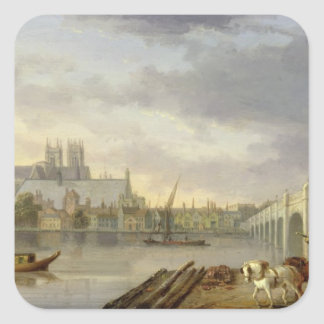 A View of Westminster Bridge and the Abbey from th Square Sticker
