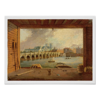 A View of Westminster Bridge (oil on panel) Poster