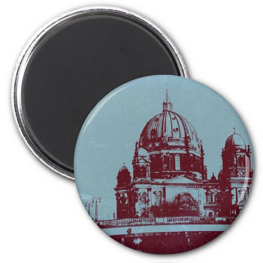 A view on the Berlin Cathedral 2 Inch Round Magnet