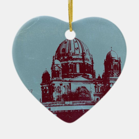 A view on the Berlin Cathedral Ceramic Ornament