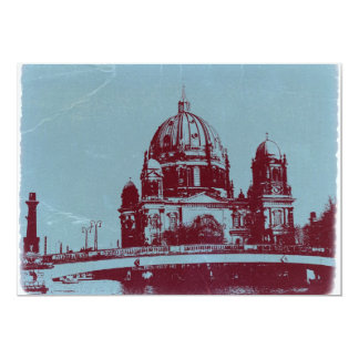 A view on the Berlin Cathedral 5x7 Paper Invitation Card