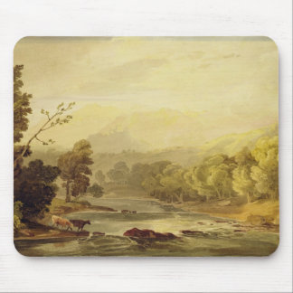 A View on the Brathay near Ambleside (w/c over tra Mouse Pad