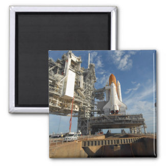 A view Space Shuttle Atlantis on Launch Pad 39A 2 Inch Square Magnet