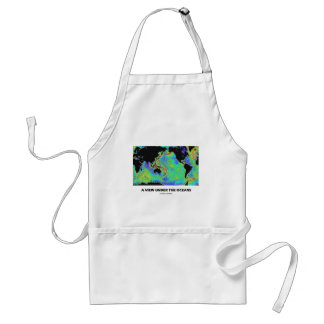A View Under The Oceans (Geography World Map) Adult Apron