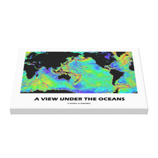 A View Under The Oceans World Map Geography Canvas Print