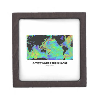 A View Under The Oceans World Map Geography Jewelry Box