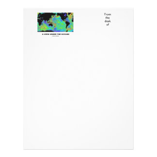 A View Under The Oceans World Map Geography Letterhead
