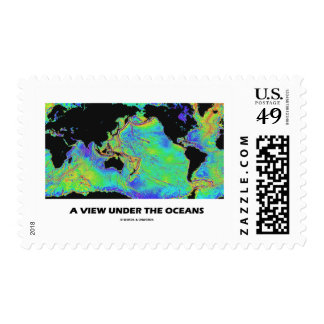 A View Under The Oceans World Map Geography Postage