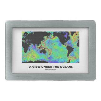 A View Under The Oceans World Map Geography Rectangular Belt Buckle