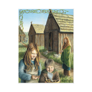 A Viking Village Gallery Wrap Canvas