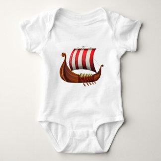 A viking's ship baby bodysuit