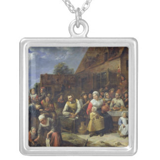 A Village Banquet Silver Plated Necklace