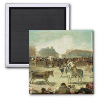 A Village Bullfight Magnet