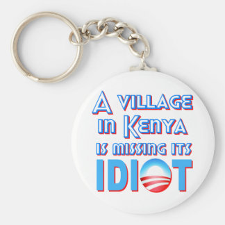 A Village in Kenya is Missing its Idiot Obama Basic Round Button Keychain