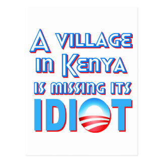 A Village in Kenya is Missing its Idiot Obama Postcard