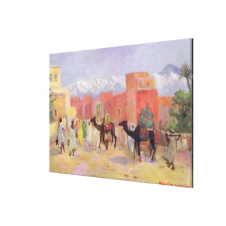 A Village in the Atlas Mountains Canvas Print