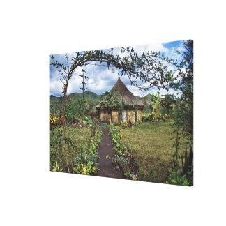 A village in the Highlands, Goroka, Papua New Canvas Print
