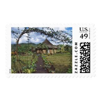 A village in the Highlands, Goroka, Papua New Stamp