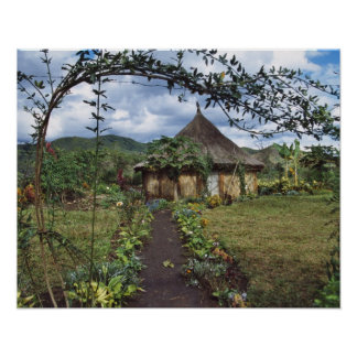 A village in the Highlands, Goroka, Papua New Poster