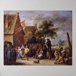 A Village Merrymaking Poster