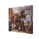 A Village Merrymaking Stretched Canvas Prints