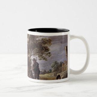 A Village Merrymaking Two-Tone Coffee Mug
