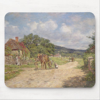 A Village Scene (oil on canvas) Mouse Pad