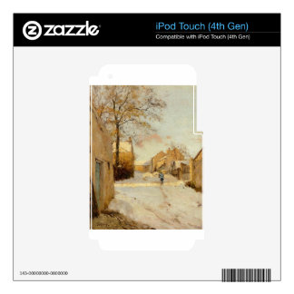A Village Street in Winter by Alfred Sisley iPod Touch 4G Skin