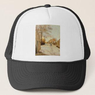 A Village Street in Winter by Alfred Sisley Trucker Hat