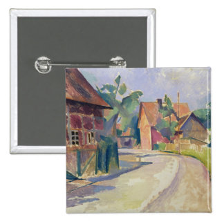 A Village Street Pinback Button