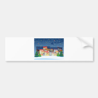 A village with christmas trees bumper sticker